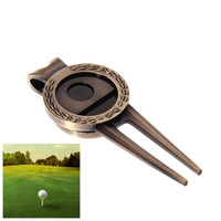 Wholesale Golf Grass Divot Repair Switchblade Tool Professional Bronze