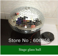 Wholesale pc FT inches Reflective Glass Ball Light LED Disco Crystal Ball Mirror Stage Lighting Effect