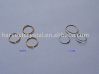 Wholesale Best Selling Chrome Gold Plated Steel Rings Both Plating colours available