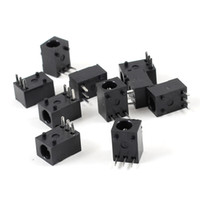 Wholesale 10 Black Pin mm x mm DC Power Jack Socket PCB Mounted Connector