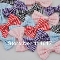 tartan plaid ribbon - U Pick Tartan plaid Ribbon Bows flower Appliques craft mix ZA074