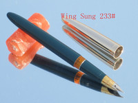 Cheap Wholesale-China famous brand-Vintage HERO Wing Sung 233 Fountain Pen -High quality rare pen-wholesale green