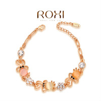 Wholesale ROXI Best Gift For Girlfriend Genuine Austrian Crystal Sample Sales Rose Gold Plated Chain Octopus Bracelet Cuff Jewelry