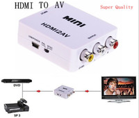 Wholesale hdmi to rca converter mini HDMI to AV mini hdmi2av CVBS L R HDMI to RCA converter adapter i i hdmi2av