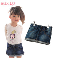 Wholesale Baby Toddler Girls Short Jeans Skirts European Designer Brand Children Cute Casual Denim Clothes Organic Cotton Retail T Years