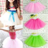 ballet gifts - New Girl Kids Tutu Toddler Layer Different Color Choose Mini Short Skirt Ballet Dancewear Party Costume Christmas Gift
