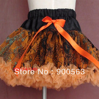 Wholesale extra larger size fit for T chiffon Halloween nylon soft chiffon tutus tutu skirt with spide net