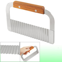 Wholesale Stainless Steel Wavy Blade Vegetable Soap Crinkle Cutter Slicer