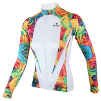 Wholesale Paladin Sportswear Spring Summer Autumn Women s Bike Bicycle Jersey Polyester Long Sleeved Cycling Jersey Breathable Clothes H13960