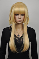 Cheap Heat ! Fashion New Beautiful Cosplay wig Party Wigs+ hairnet