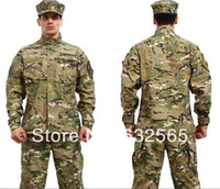 camouflage fabric - Tactical military airsoft army camouflage combat uniform multicam camo ACU type fabric ripstop uniforms COAT PANTS