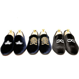 Wholesale- US5-9 New Fashion Velvet Casual SLIP-ON Shoes round toe mens boat shoes loafers