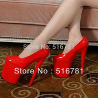 Wholesale Inch Women Mary Jane Platform PU Pumps cm Sexy Red Bottom High Heels Multi Colored Shoes Exotic Dancer High heeled Shoes