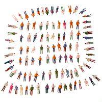 model train - 100pcs HO Scale Mix Painted Model Train Park Street Passenger Person Figures Painted Model People Plastic Crafts T175