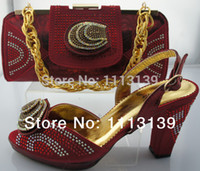italian shoes - Italian Shoes With Matching Bag High Quality For party wedding Italy Shoes And Bag For Evening NS8801 wine