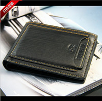 Wholesale Special promotion Mens genuine Leather Wallet Pockets Card Clutch Cente Bifold Purse With a gift box