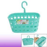 Wholesale Cyan Blue Apple Shaped Hole Kitchen Tableware Fruit Plastic Basket Organizer