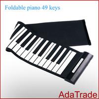 Precio de Piano del teclado suave 49-Libere el teclado del piano del silicón de la llave del piano 49 del rodillo de la mano del USB del envío libre ruede para arriba los teclados del piano Música Piano electrónico electrónico
