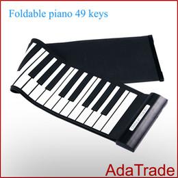 Piano del teclado suave 49 en Línea-Libere el teclado del piano del silicón de la llave del piano 49 del rodillo de la mano del USB del envío libre ruede para arriba los teclados del piano Música Piano electrónico electrónico
