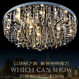 Wholesale-LED RGB Chandelier Modern Crystal Chandeliers Lamp;gift 9PCS E14 Blub+RGB Remote Control