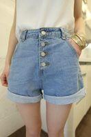 Wholesale new arrival women s sexy light blue denim shorts low rise shorts jeans fashion ladies shorts SHLN001