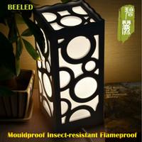 Wholesale Living Room Bedroom Decor Lighting Small LED Table Lamp Wood Plastic Rustic Style Modern Lampshade E14 V V V