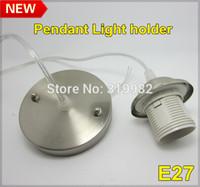 Cheap Wholesale-5pcs lot, E27 pendant light lamp holder, E27 80cm cable socket base home lighting lamp DIY holder adapter