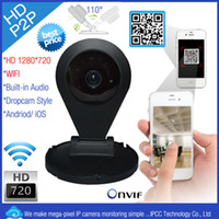 Wholesale IPCC P2P P wireless dropcam ip camera wifi with Night Vision two way audio SD card slot fps ONVIF2 IPCC H02N