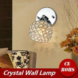 Wholesale LED Modern Sconce K9 Crystal Wall Lamp E14 Bed room Stairs Aisle Adjustable Lamp shade Home Decor Luminaire B51