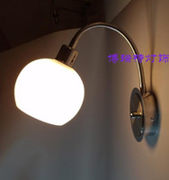 bathroom lamp shades - modern wall lamps for bedroom bathroom lighting glass shade mirror lighting adjustable swing arm wall sconces LED wall lights