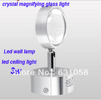 adjustable magnifying lamp - Modern wall lamp W Crystal magnifying glass lighting epistar led spot light decoration light Adjustable Angle