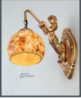 bedside wall lamp height - Single head Mermaid Resin Wall lamp Height mm bedside mirror lamp