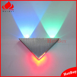 Wholesale W New Design for Home Hall Bar Decoration led wall lamp Triangle corridor cabinet wall surface mounted bathroom LED wall lamp