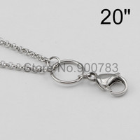 Wholesale STAINLESS STEEL floating chains wire mm width for floating lockets SILVER CUSTOM BOX CHAINS