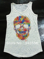 Cheap Wholesale-Moda vestuario,Women clothing,Tank tops,Punk style,Casual dress,women summer dress t shirt and tops,sexy and club tops sexy wear