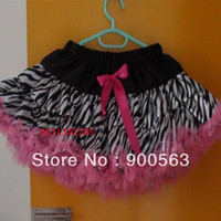 Wholesale classical hot pink zebra petticoat tutu outfit for girls min skirts extra larger size fit for T