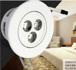LED ceiling light Cold warm White   downlight 3W dimmable 300LM AC 85~265V spotlight white shell lamp