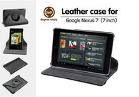 nexus 7 2013 - 7 inch Leather Case For Google Nexus st nd Gen version Rotating Leather Stand Cover Case with sleep function Mix Color