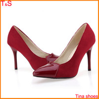 large size high heel shoes - Large Size Us sexy women wedding red bottom pointed toe high heel pumps party bridals shoes