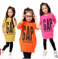 Wholesale New Sale Children Clothing Long Sleeve Outerwear Spring Autumn Casual Tshirts Girls Letter hoodies Kid Girl sweater