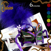 Wholesale Feather butterfly gold dust mask dance stage catwalk Masquerade masks IF038A