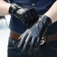 leather gloves - Leather Gloves Male Genuine Leather Glove Winter Thermal Sheep Leather Glove fashional Leather Glove