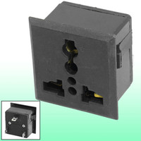 Wholesale AC250V A Universal US UK EU AU Panel Power Socket Outlet Black
