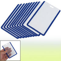 Wholesale School Students Blue Clear Plastic Vertical Business ID Badge Card Holder