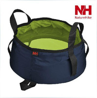 Wholesale 8 L Portable Foldable Folding Washbasin Washing Footbath Portable Camping Outdoor Basin Household Cleaning Tools Accessores