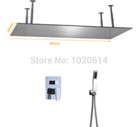 Wholesale 400x800 mm unique concealed ceiling mounted rainfall shower head set faucet mixer with valve