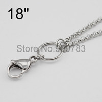 Cheap Wholesale-ALL STAINLESS STEEL floating chains 18'' 0.9 wire 2.5mm width for dangle charm floating glass locket,floating locket