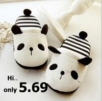 animal flops - Winter Fashion women shoes lovely panda animal slippers for women and men shoes cute indoor shoes home slippers Freeship