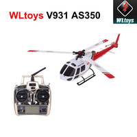 Wholesale NEW Wltoys V931 Flybarless CH RC Helicopter Axis Axis Gyro Blade AS350 Scale Helicopter with G Remote Controller RM1124