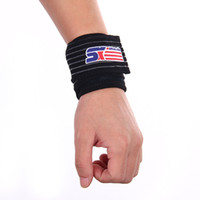 Wholesale Sports Badminton Gym Stretchy Wrist Joint Brace Support Wrap Band Black